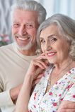 Portrait of a happy senior couple Stock Photo
