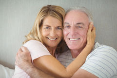 Portrait of happy senior couple embracing each other Royalty Free Stock Image