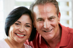 Portrait Of Happy Senior Couple At Home Royalty Free Stock Photography