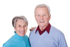Portrait of happy senior couple Stock Photo