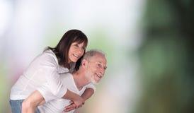 Portrait of happy senior couple Stock Image