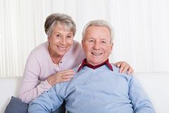 Portrait of happy senior couple Royalty Free Stock Images