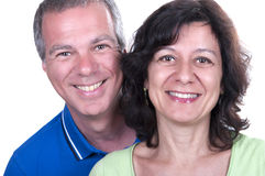 Portrait Of Happy Senior Couple Smiling Stock Image