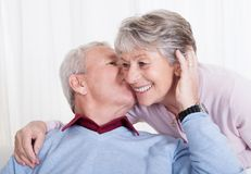 Portrait of happy senior loving couple Royalty Free Stock Image