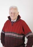 Portrait of happy senior man. Close up photo Stock Images