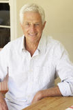 Portrait Of Happy Senior Man At Home Royalty Free Stock Image
