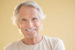 Portrait Of Happy Senior Man stock photography