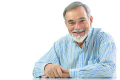 Portrait of a happy senior man smiling Stock Photos