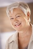 Portrait of happy senior woman Stock Image