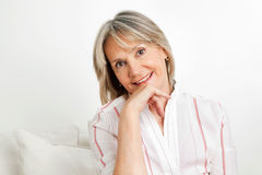 Portrait of happy senior woman Stock Photography
