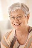 Portrait of happy senior woman with glasses Royalty Free Stock Photos
