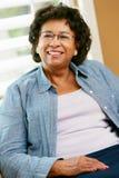 Portrait Of Happy Senior Woman At Home Stock Photo