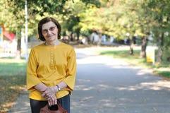 Portrait of happy senior woman outdoors Stock Image