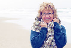 Portrait of happy senior woman Stock Images