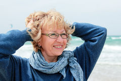 Portrait of happy senior woman Royalty Free Stock Photos