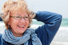 Portrait of happy senior woman Royalty Free Stock Photo