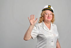 Portrait of a happy senior woman Stock Photos