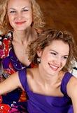 Portrait of happy sisters Stock Image