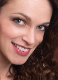 Portrait of happy smiling beautiful young woman Royalty Free Stock Photo
