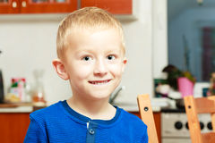 Portrait happy smiling boy child kid preschooler Royalty Free Stock Image