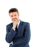 Portrait of happy smiling business man Royalty Free Stock Photography