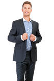 Portrait of happy smiling business man Stock Image