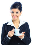 Portrait of happy smiling business woman Stock Photography