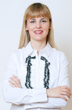 Portrait of happy smiling business woman Stock Image
