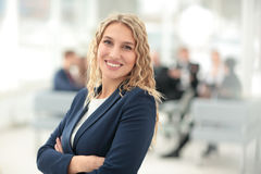Portrait of happy smiling  business woman Royalty Free Stock Photos
