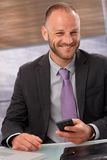 Portrait of happy smiling businessman Royalty Free Stock Photos