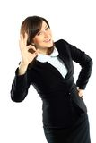 Portrait of happy smiling businesswoman Royalty Free Stock Photography