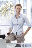 Portrait of happy smiling businesswoman Royalty Free Stock Photo