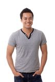 Portrait of happy smiling casual man Stock Photography