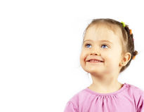 Portrait of the happy smiling child Stock Photo