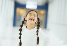 Portrait of a happy smiling child girl stock image