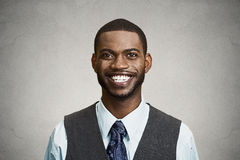 Portrait happy, smiling corporate executive Royalty Free Stock Images