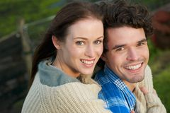 Portrait of a Happy Smiling Couple Royalty Free Stock Photo