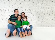 Portrait of a happy smiling family Stock Image