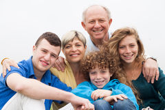 Portrait of happy smiling family Royalty Free Stock Image
