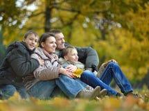 family posing  in park Royalty Free Stock Photos