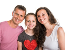 Portrait of happy smiling family Stock Images