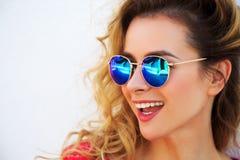 Portrait of Happy Smiling Fashion Woman Royalty Free Stock Photos