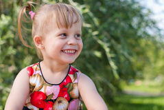 Portrait of happy and smiling girl Stock Photo