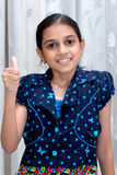 Portrait of a happy smiling  indian young girl Royalty Free Stock Image