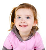 Portrait of happy smiling little girl Stock Images