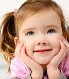 Portrait of happy smiling little girl Royalty Free Stock Images