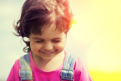 Portrait of happy smiling little girl Royalty Free Stock Photos