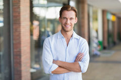 Portrait of happy smiling man Royalty Free Stock Images