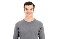 Portrait of happy smiling man wearing casual t-shirt Stock Image