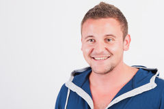 Portrait of happy smiling man,  on white. Royalty Free Stock Images